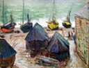 Boats at the Beach at Eretat Monet