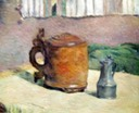 Wood tankard & Meta Pitcher Gauguin